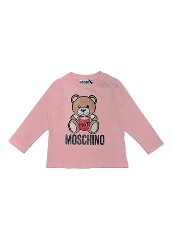 MOSCHINO BABY KID TEEN pink MOSCHINO BABY LONG SLEEVE T-SHIRT 2DC42KACA05871GS_1