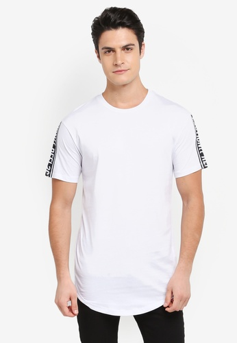 Jack & Jones white Agust Crew Neck Tee CAF64AAE6D6988GS_1