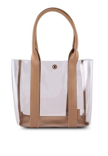 Milliot & Co. 米褐色 Serena Totes Bag 83B50AC97FC34DGS_1