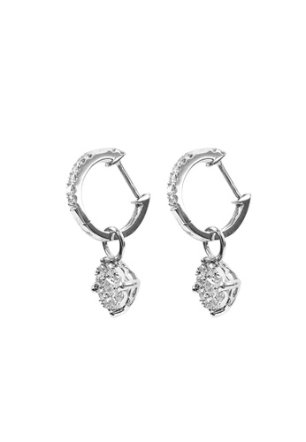 TOMEI white TOMEI Earrings, Diamond White Gold 375 (E1007) D2A9DAC82A878FGS_1