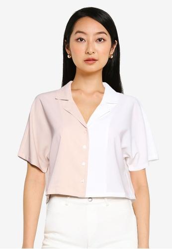 ZALORA BASICS multi Colourblock Shirt 5E27CAA10868DDGS_1