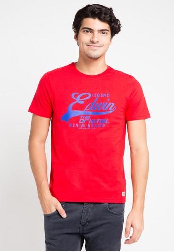 EDWIN red Edwin Original T-Shirt Ets-006-106 - ED179AA0URIPID_1