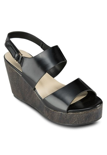 esprit hk outletWyona 寬帶繞踝楔型涼鞋, 女鞋, 楔形鞋