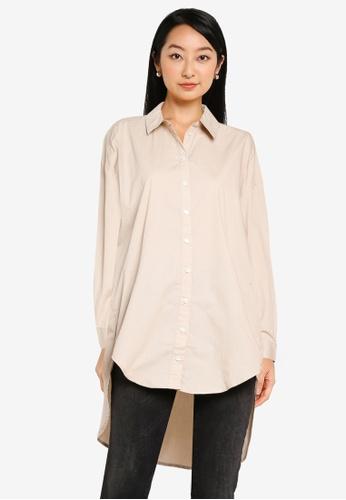 ONLY beige New Vigga Life Shirt 3B0E9AA0446FB8GS_1