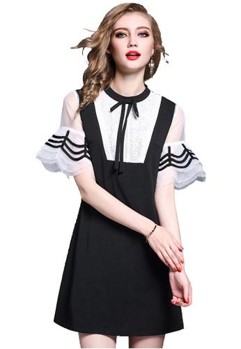 Sunnydaysweety black 2017 New Black Short Sleeves One Piece Mini Dress C071717 SU219AA0H9SCSG_1