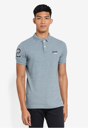 Superdry 灰色 經典短袖POLO衫 D8BFAAA501F777GS_1