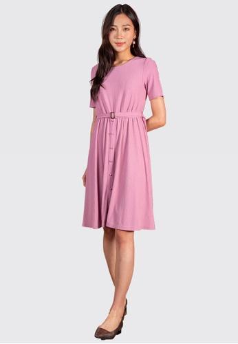 L'zzie pink LZZIE NAZANIN DRESS - PINK F510FAA3DD03EAGS_1