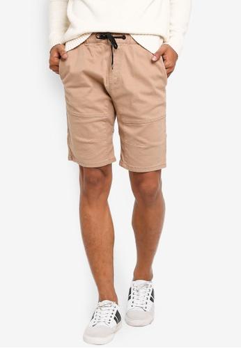 Factorie 米褐色 Walk Shorts 7686AAA8E43AD2GS_1