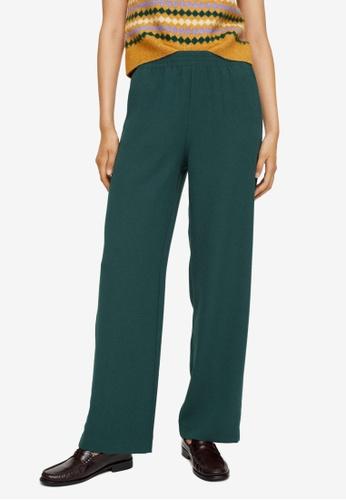Mango green Elastic Waist Trousers 64192AA574CC64GS_1