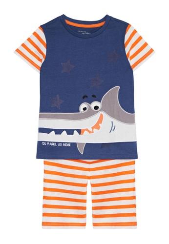 Du Pareil Au Même (DPAM) blue Shark Smile Pajamas 21B92KAC200C55GS_1