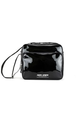 Peeps black Retro 90 Enamel Cross Bag DDE6CAC8C7202AGS_1