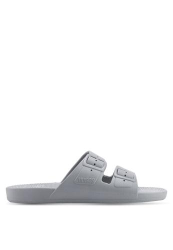 353c9ee01 Buy Freedom Moses Basics Grey Sandals Online on ZALORA Singapore