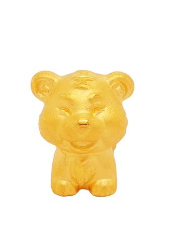 LITZ gold [Free Bracelet] LITZ 999 (24K) Gold Zodiac Tiger Charm 生肖虎 EPC0773 13C47AC6B6F0BBGS_1