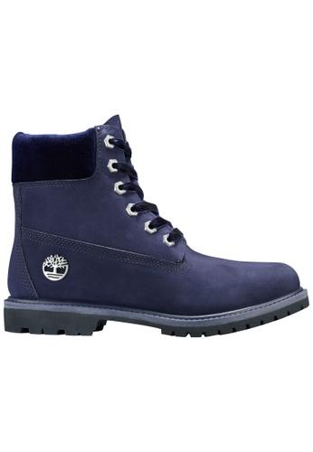 "Timberland blue 6"" Premium Leather and Fabric Waterproof Boot TI324SH2V3EZHK_1"