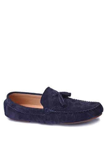 Twenty Eight Shoes 藍色 拷花真皮休閒鞋 VMC9880 B423CSHEB6259EGS_1
