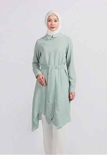 SHAFIRA green Shafira Dhapnella Two Tone Color Tunic A1407AA777B42FGS_1