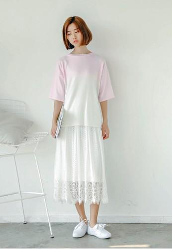 Mimesprit 內衣osa 蕾絲及膝短裙, 服飾, 裙子