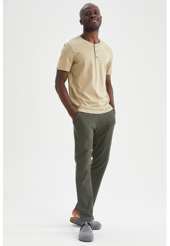 DeFacto grey Regular Fit Top & Bottom Pyjamas Set F4F94AADBD94B9GS_1