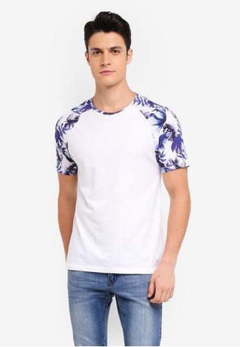 Jack Wills purple Flanchford Print Raglan T-Shirt 4393EAAB71712EGS_1