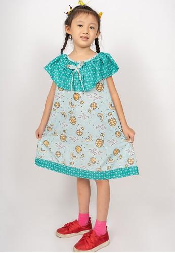 Rianty Kids green Dress Anak Bonaza Roundcrow C252AKA8663201GS_1