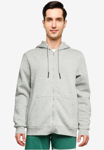 Only & Sons grey Ceres Life Zip Hoodie 1435FAA3721F2AGS_1