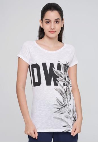 SISLEY 白色 竹節棉長版短袖T恤 E372CAA3A78A35GS_1