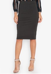 MEMO green Regular Length Pencil Skirt 11BE1AA9056D37GS_1