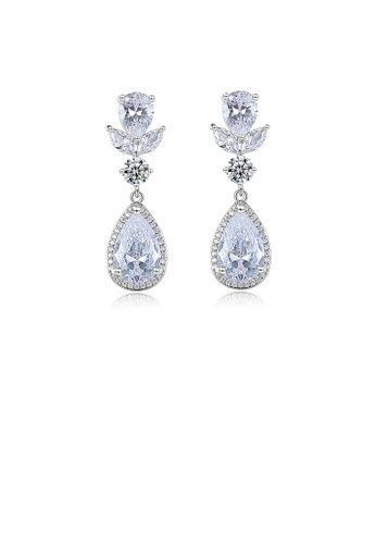 Glamorousky white Elegant and Fashion Geometric Water Drop Earrings with Cubic Zirconia 9FC0EAC20E0547GS_1