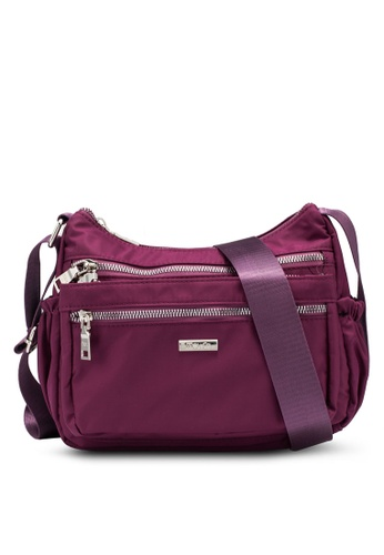 Mel&Co purple Nylon Sling Bag DCD23ACDD43C68GS_1