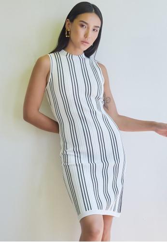 Dressing Paula white Sleeveless Knee-Length Knit Dress 98BF9AA985ECF7GS_1