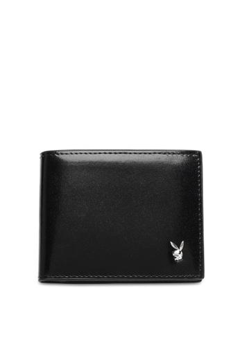 Playboy black Men's Bi Fold Wallet 9A320AC19C1677GS_1