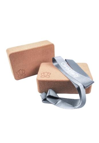 OHMfinity grey OHMfinity Yoga Bundle 3: Blocks & Strap - Grey 51721SE3628FBBGS_1