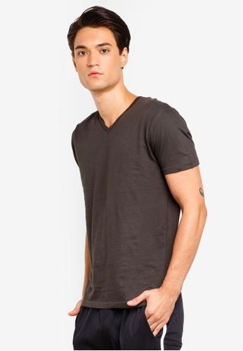 Brave Soul 褐色 V Neck T-Shirt 259E2AA2DB8F7CGS_1
