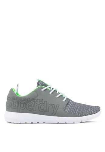 Superdry grey Superweave Sports Weave Runner Sneakers SU137SH13HVMMY_1