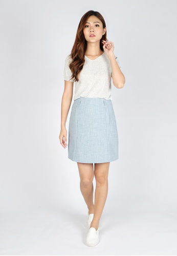 Sophialuv blue Need to Add Mini Skirt in Blue B9413AA8AFF0ECGS_1