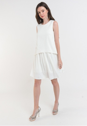 L'zzie white LZZIE SYLLA DRESS - WHITE D120AAAF2AEFC0GS_1