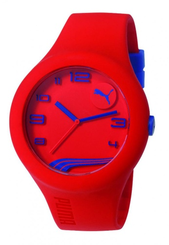 Puma red PU103211022 Form XL Red Navy Silicone Strap Men Watch PU549AC0RJVDMY_1