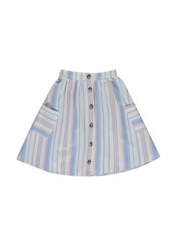 LC Waikiki blue Striped Skirt FF4AFKAA1A5458GS_1