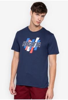 1cb8a31840 REGATTA blue Semi Fit Tee With Graphic Print E4FBCAA59212A2GS 1