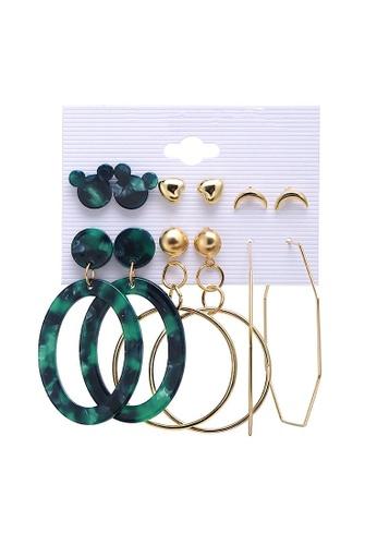 Glamorbit multi Acrylic Statement Earrings Set 94827ACE2B9EC1GS_1