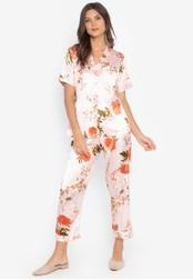 FEMINISM orange Shortsleeve Pajama Set 48BC1AAFFB9778GS_1