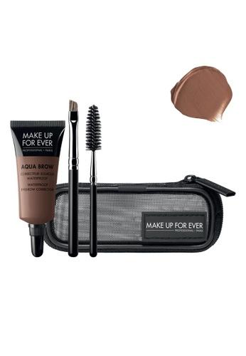 MAKE UP FOR EVER brown AQUA BROW KIT - Waterproof Eyebrow Corrector Kit #20 E7DF8BE568D45AGS_1