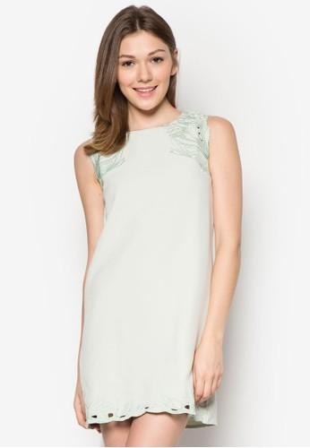 Lilies 無袖蕾絲迷你連身裙esprit outlet, 服飾, 短洋裝