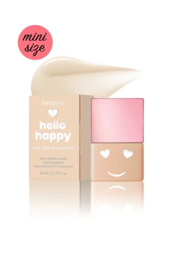Benefit beige Benefit Hello Happy Soft Blur Foundation Mini Shade 02 CE9D3BEE6F2E7FGS_1