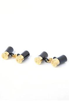 f5962b18da7 Splice Cufflinks black and gold Gold   Black Shotgun Cartridge Cufflinks  SP744AC71CQMSG 1