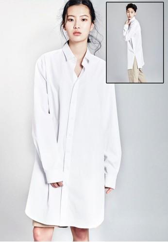 長版長袖襯衫、 服飾、 T-shirtnohant長版長袖襯衫最新折價