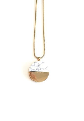 ACEXSPADE Circular Marble Long Necklace 858B3ACECBD1CCGS_1