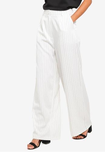 ZALORA BASICS white Basic Wide Leg Tailored Pants DB77BAA6520135GS_1