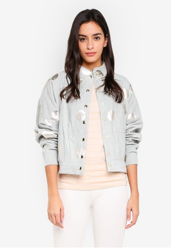 Selected Femme grey Reese Suede Jacket 340D0AA89C75B5GS_1