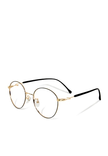 ASLLY gold Quiz Game│Anti-blue light glasses with golden detailed frame 0540CGLEEAA999GS_1